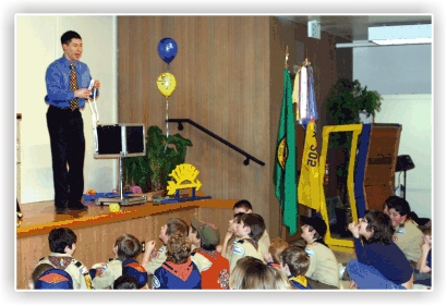 Scouts love magic, and our professional magicians will keep the kids and adults entertained for your pack meeting or Blue and Gold Banquet.